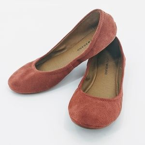 Lucky Brand | Emmie Rust Faux Suede Fitted Flats